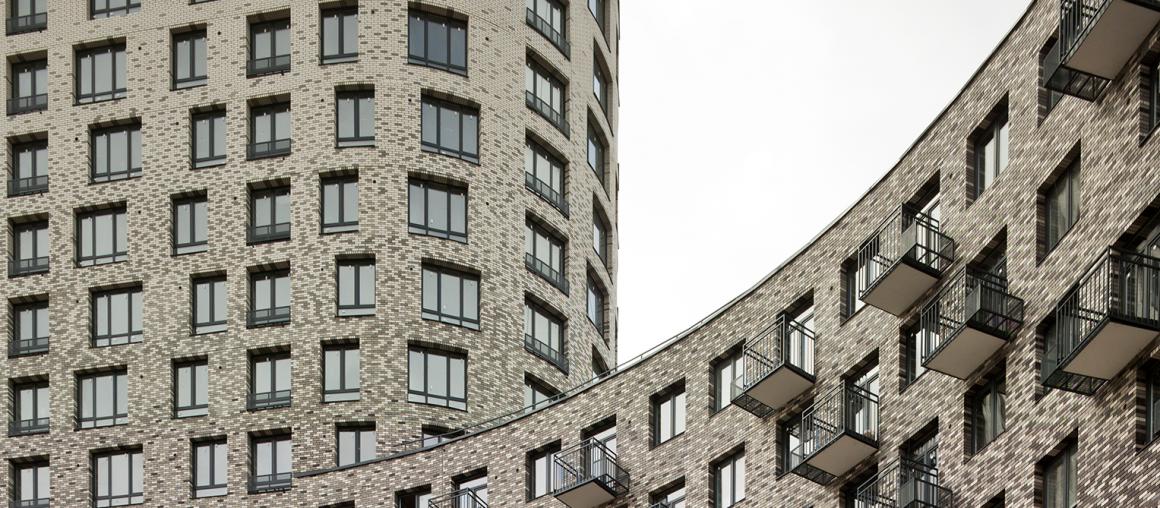 ЖК 8-19 панорама двух фасадов