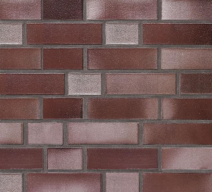 Клинкерный кирпич ADELAIDE burgund glatt. Гладкая поверхность