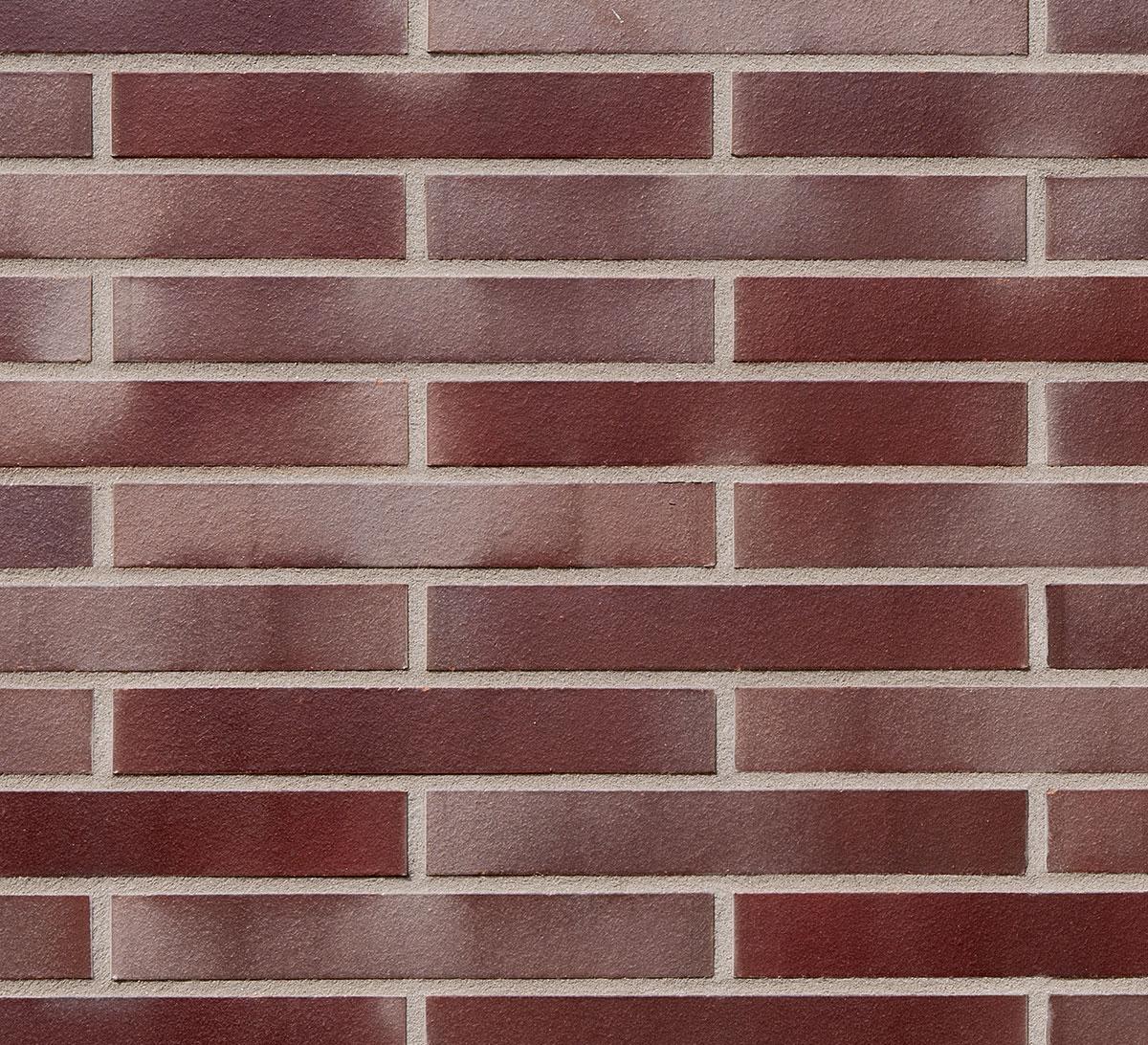 Клинкерный кирпич ADELAIDE burgund glatt в удлиненном формате LDF