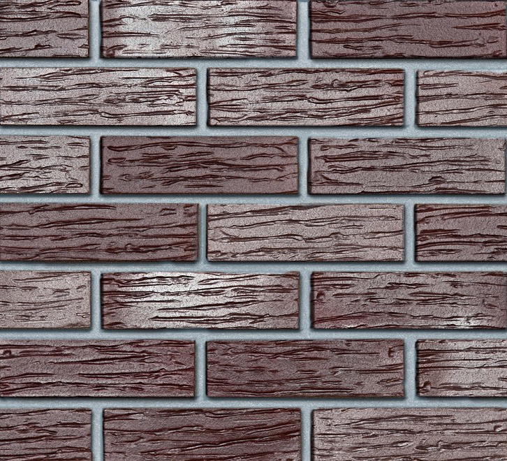 Клинкерный кирпич ADELAIDE burgund в формате NF. Рифленая поверхность