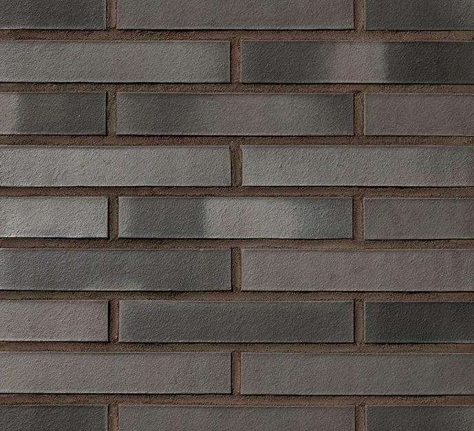 Клинкерный кирпич BRISBANE в формате LDF (290x115x52). Темный цвет швов.