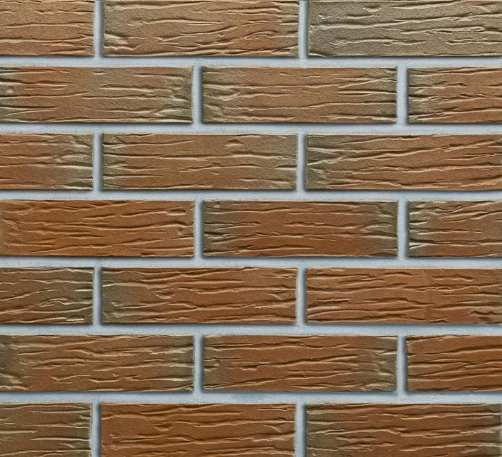 Клинкерная облицовочная плитка CANBERRA genarb в формате NF. Поверхность, имитирующая мерейное тиснение