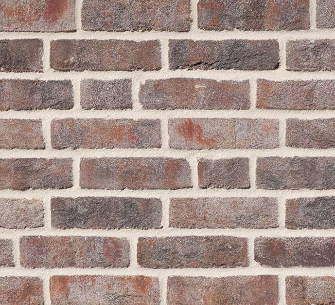 Плитка ручной формовки WASSERSTRICH bunt-grau в формате NF