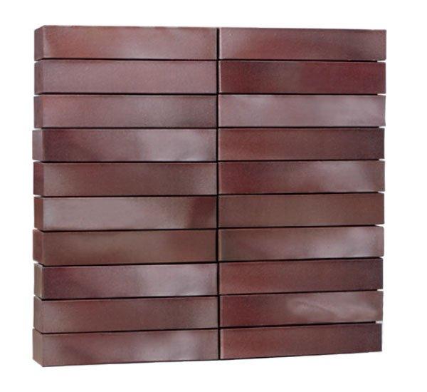 Клинкерные кирпичи ADELAIDE burgund glatt в тонком удлиненном формате LDF